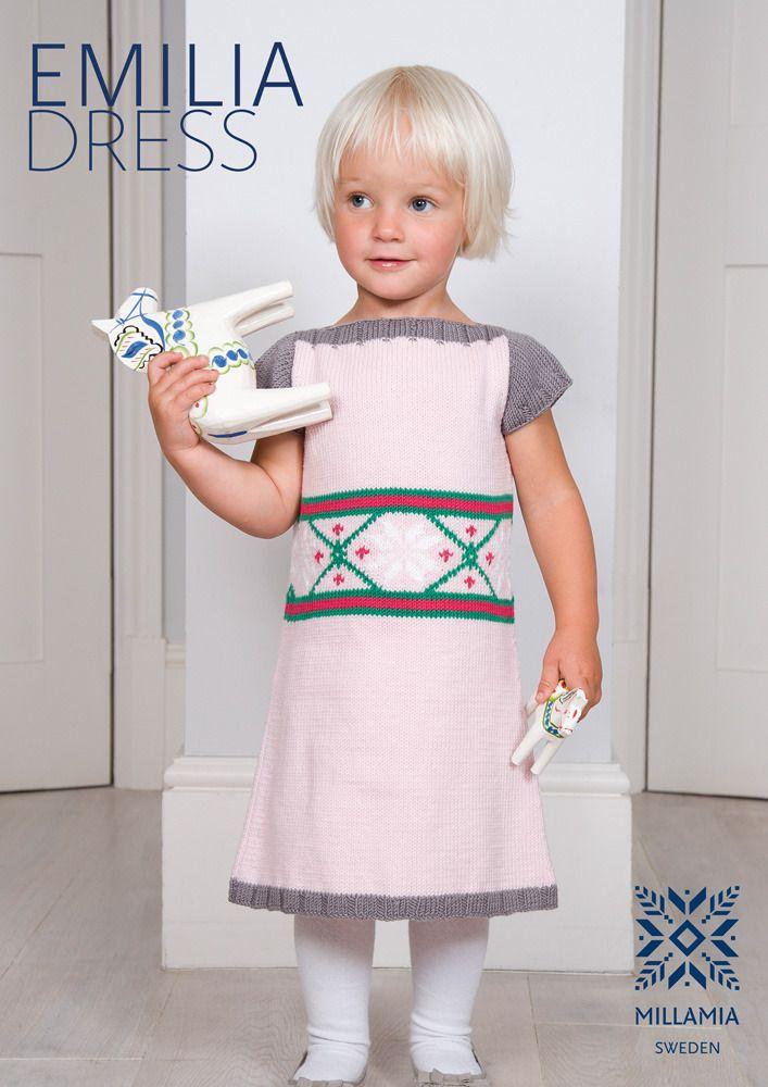 Free dress knitting pattern from Millamia | Knitting patterns, Knit ...