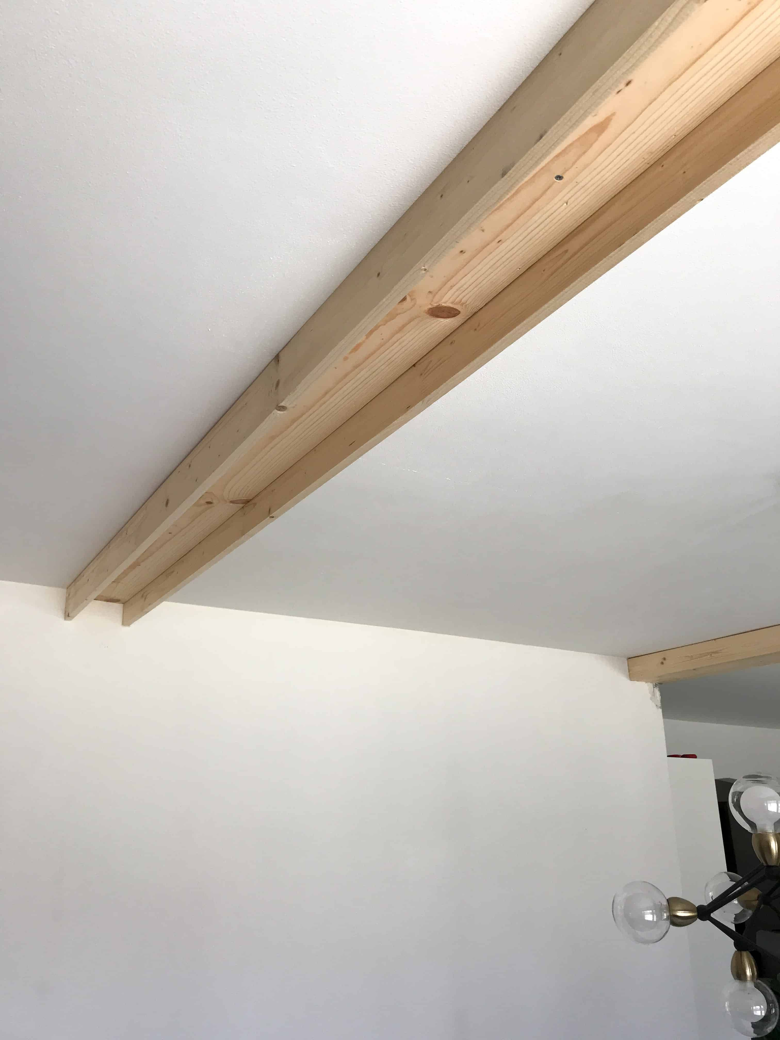 How To Install Faux Wood Beams In 2020 Wood Beam Ceiling Faux