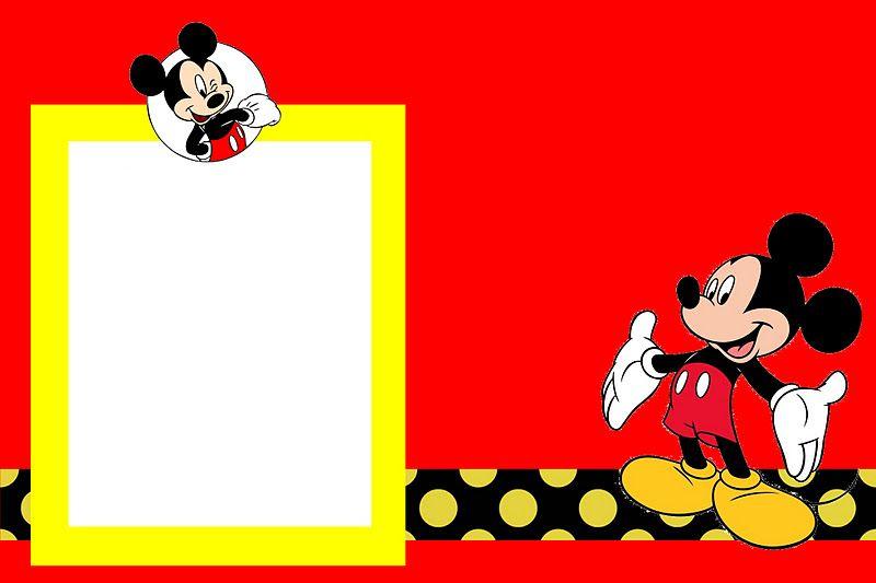 Fazendo a Minha Festa! Mickey Tradicional - Kit Completo com - mickey mouse invitation template