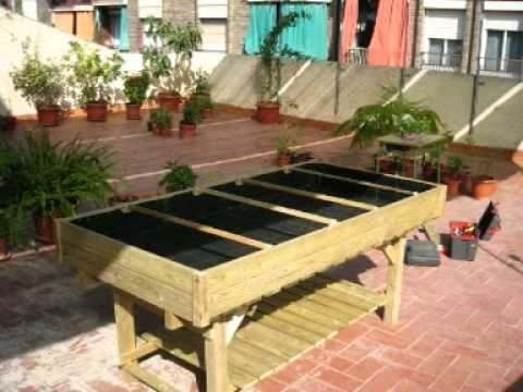 Huerto urbano garden pinterest huerto urbano huerto - Mesa para huerto urbano ...
