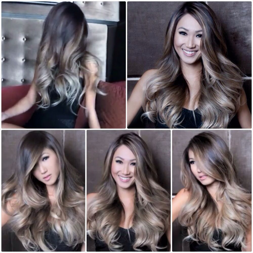 Kumral Ombre Renkleri Ash Blonde Balayage Hair Inspiration