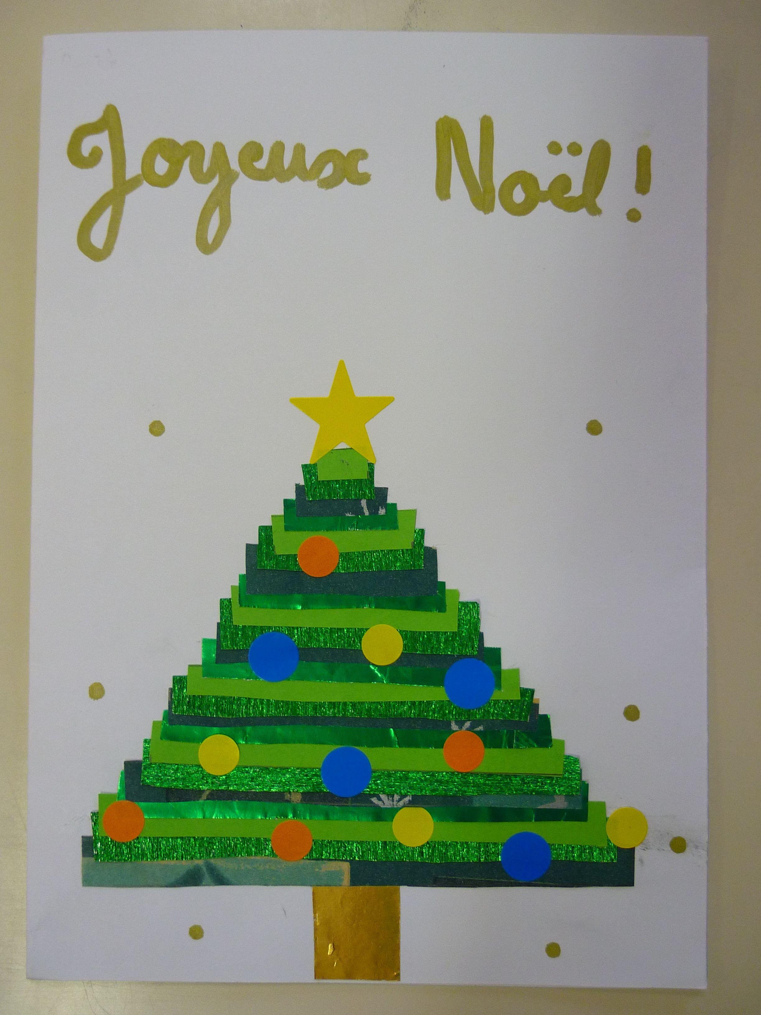 Carte de Noël sapin CM1 | Cartes de noël sapin, Carte noel, Noel