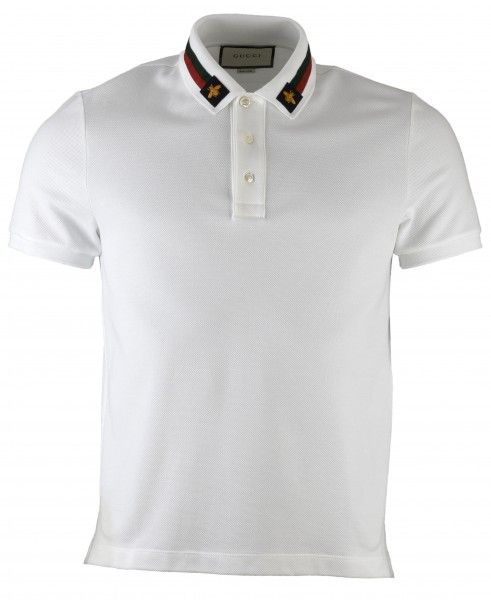 84361e64 Gucci Web Trim & Bee Collar Polo T-Shirt | fashion | Polo t shirts ...