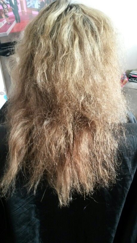 This Is The Before Picture On My Client With Dry Brittle Hair We Then Transformed Into This Dry Brittle Hair Hair Hair Styles