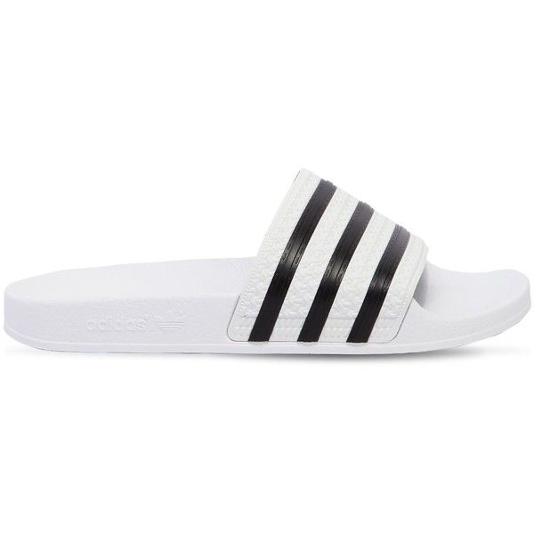 6bc5a6e66b9aaf ... Black Sale Outlet  Adidas Originals Women Adilette Rubber Slide Sandals  (185 RON) ❤ liked on Polyvore featuring ...
