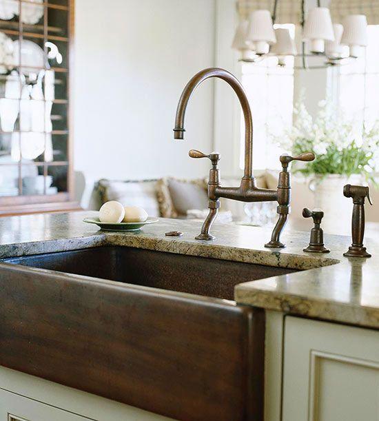 Lavabos para cocinas de estilo cottage | Cocina pequeña, Lavabo y ...