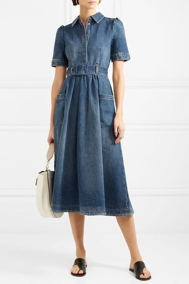 e87876ff4985 Co - Denim Midi Dress - Blue