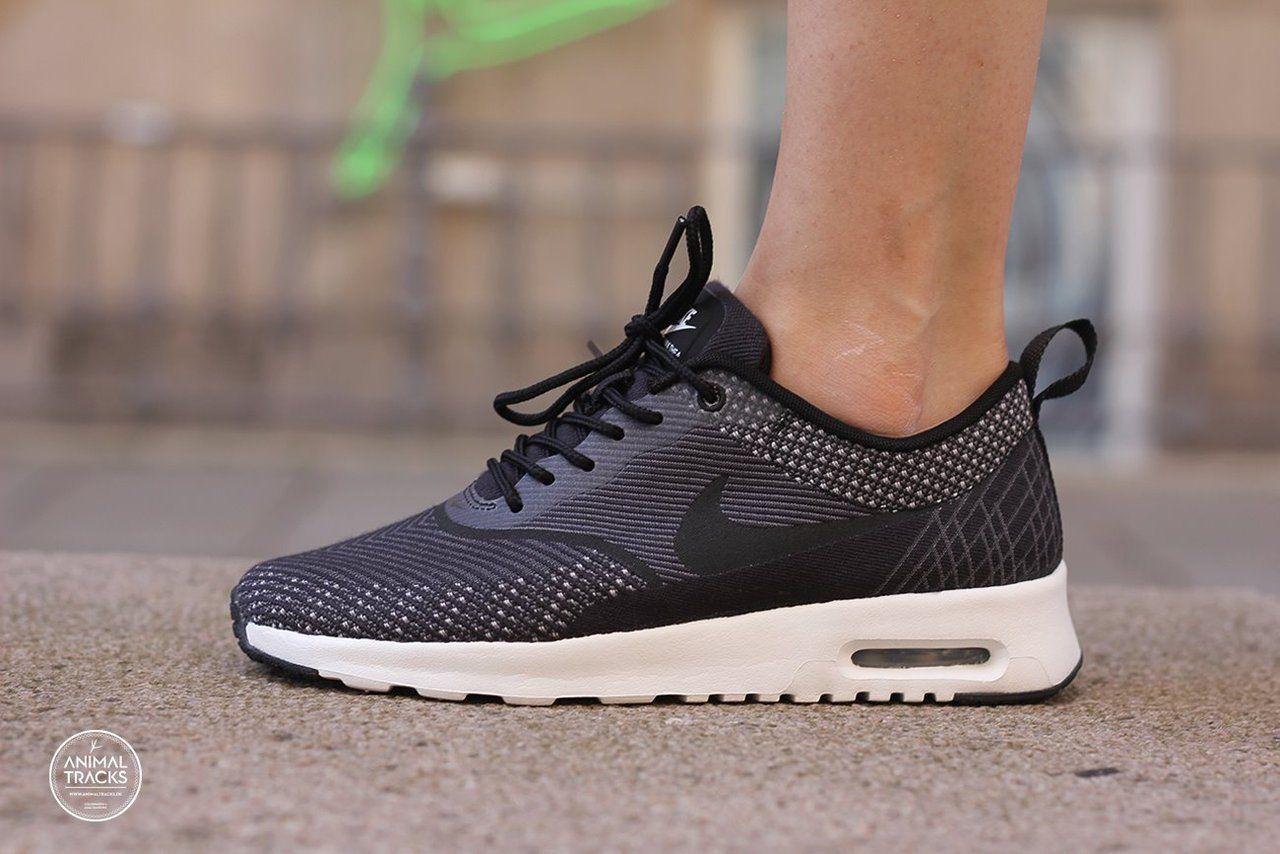 Fall/Winter Womens Nike Women's Air Max Thea Jacquard Black / Racer Blue-White-Black
