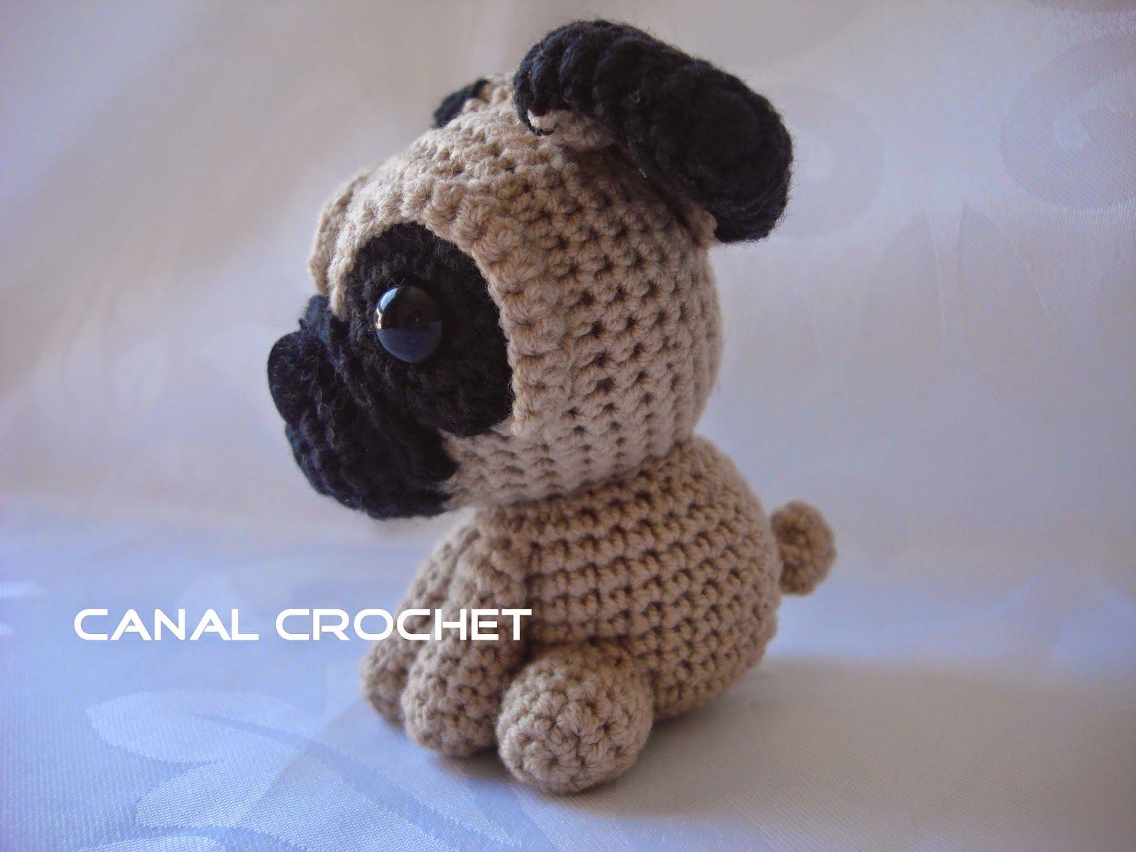 CANAL CROCHET: Perro pug amigurumi patrón libre: | Crochet ...