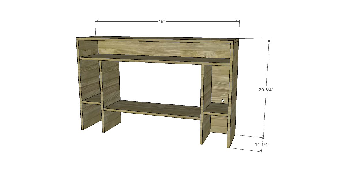 Free Furniture Plans To Build A Hutch For Desk