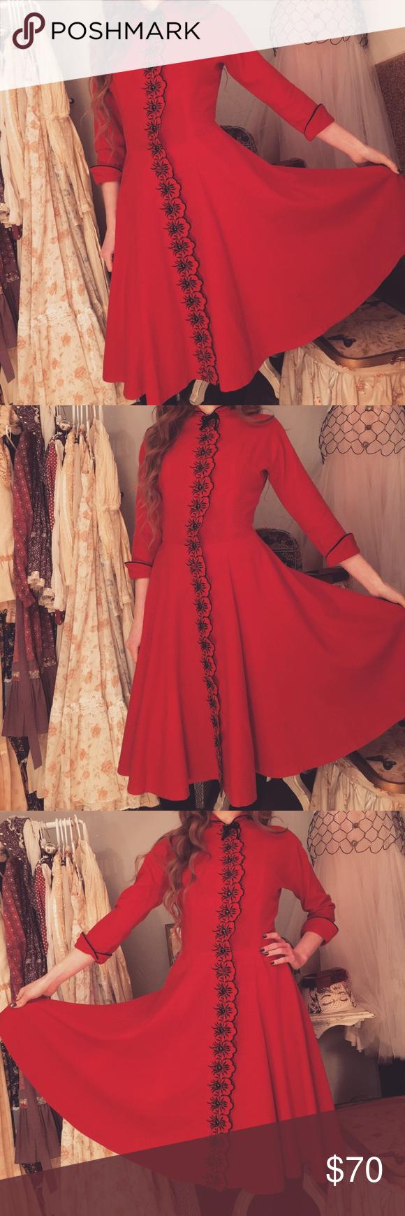 Vintage s pat hartly wool dress in my posh picks