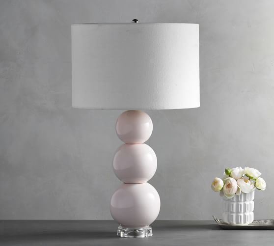 Elegant Cerena Rose Stacked Ball Lamp With Shade