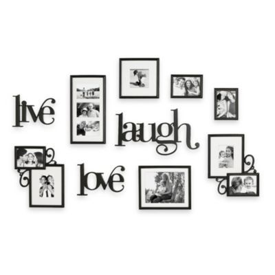 Live Love Laugh 10 Piece Wall Collection And 3