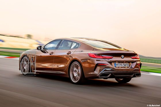 Bmw 8 Series Gran Coupe 2019 Teaser Concept Erlkonig New