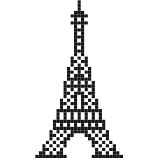 pixel art tour eiffel