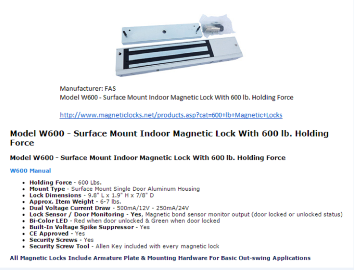 Maglock Is A Locking System That Consists Of An Electromagnet And Armature Plate When The Current Passes Through Th Magnetic Door Lock Magnetic Lock Mag Lock