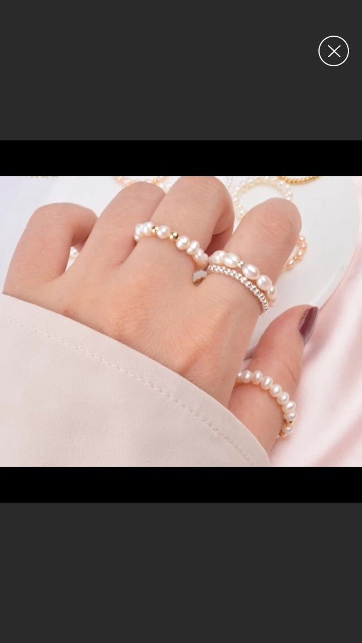 Pink Pearl Toe Ring White Pearl Toe Ring Stretch Stretchy Little Toe Ring Big Toe Ring 925 Sterling Silver Bead Toe Ring BuyAny3+Get1 Free