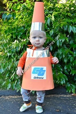 ... Cone Toddler Halloween Costume My year old son had decided to be a backhoe for Halloween so I had to come up with a u201csidekicku201d costume for my 11 month ...  sc 1 st  Pinterest & Coolest Homemade Traffic Cone Toddler Halloween Costume | Toddler ...