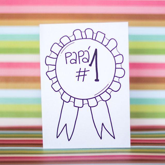 5 Tarjetas para colorear y celebrar a papá | dia del padre ...