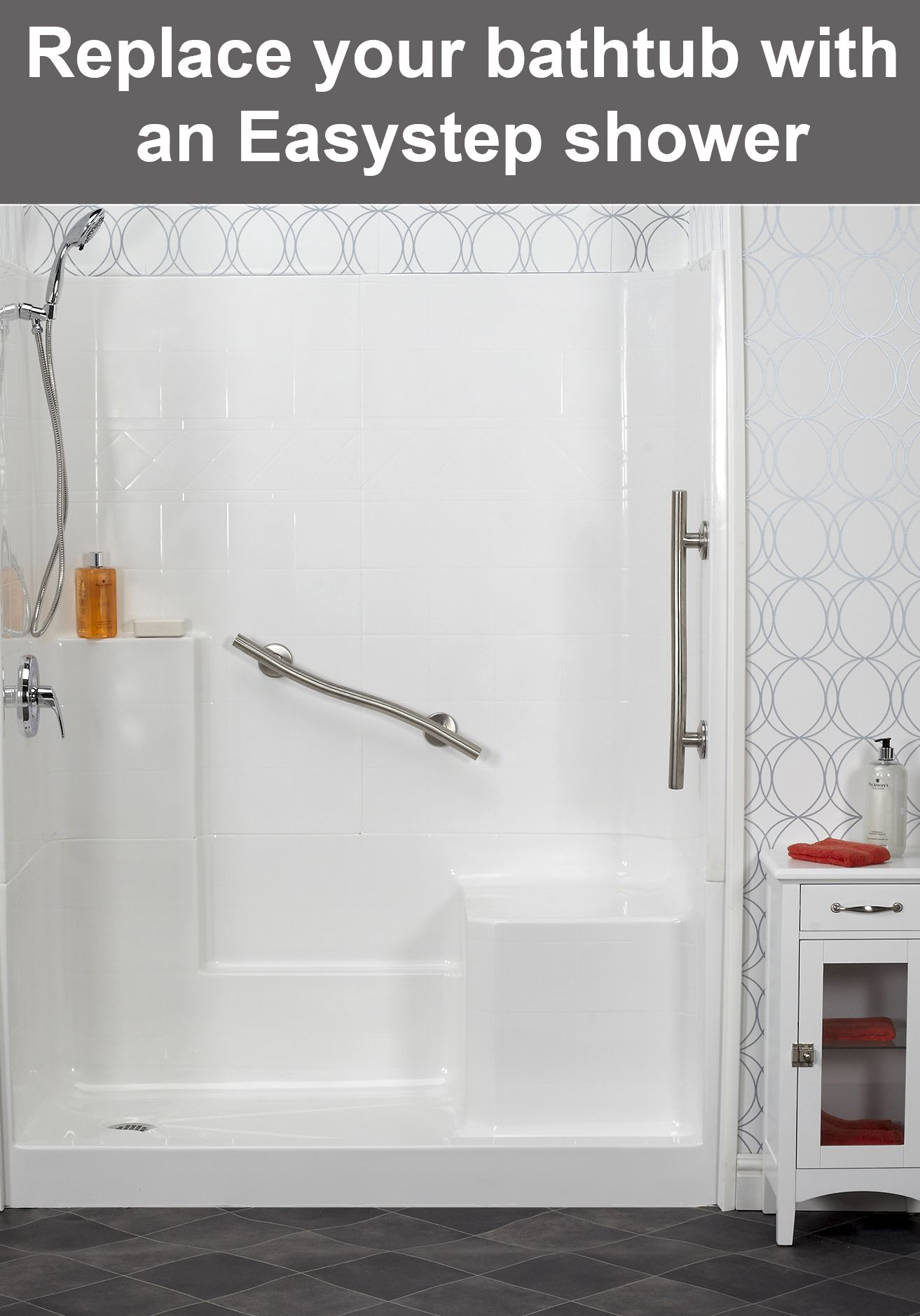 An Easy Step Shower From Freedom Showers Is Perfect For A Multi