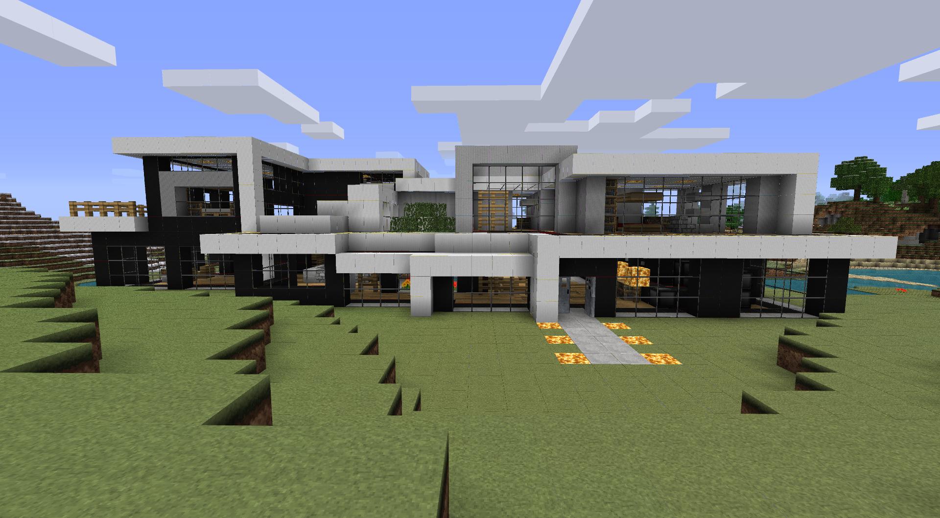 Modern Luxury Mansion Minecraft Mansion Mansions Minecraft Houses Blueprints