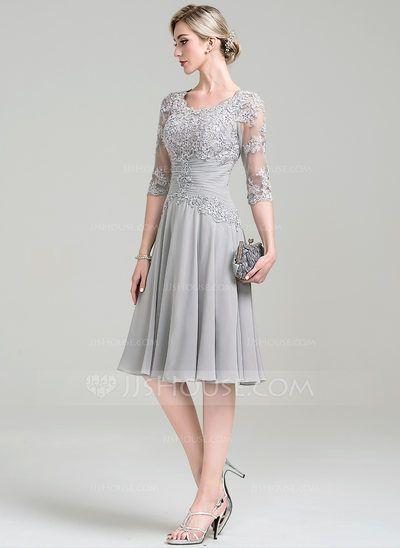 Vestidos princesa/ Formato A Decote redondo Coquetel ...