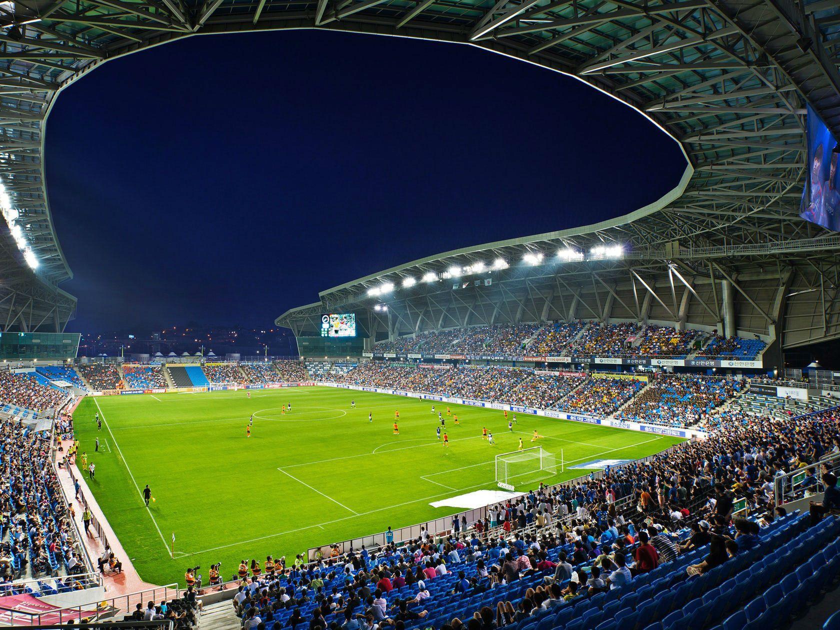 Incheon Football Stadium Sungui Arena Park Rossetti Arch2o Com In 2020 Football Stadiums Soccer Stadium Stadium