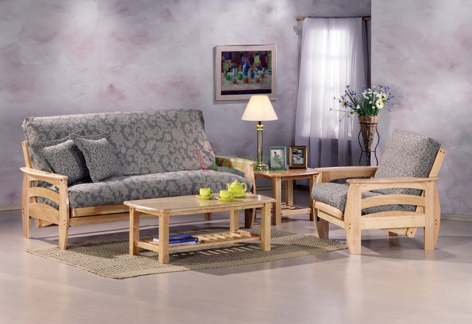 Corona Futon Living Room Set by Night