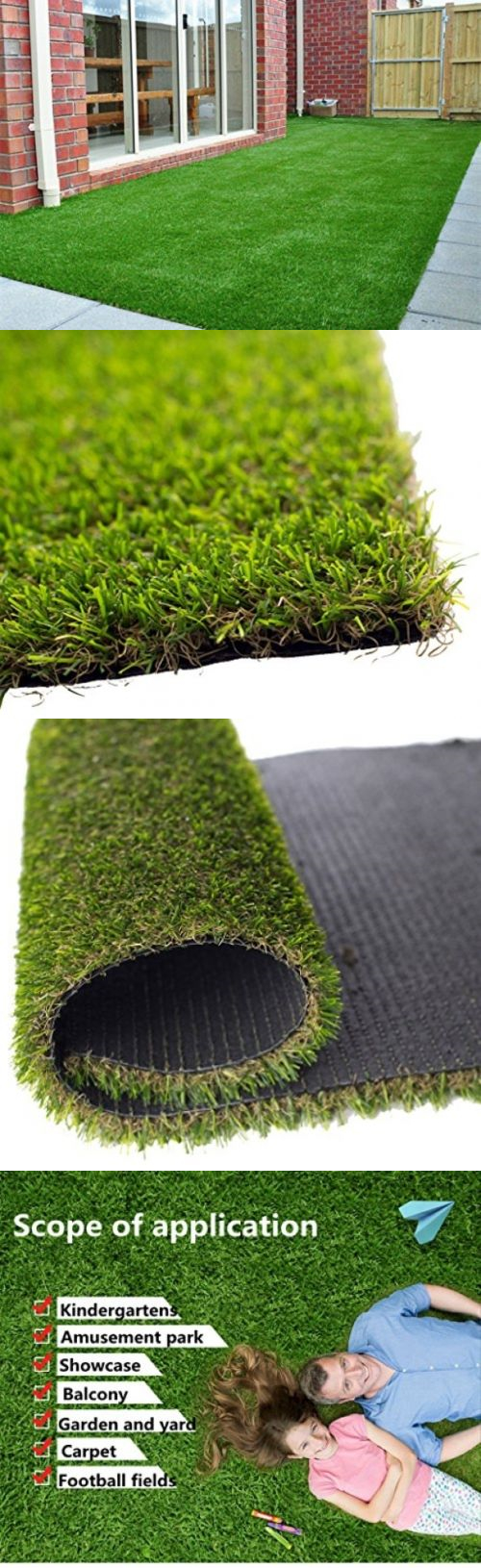Synthetic grass artificial grass realistic green lawn turf