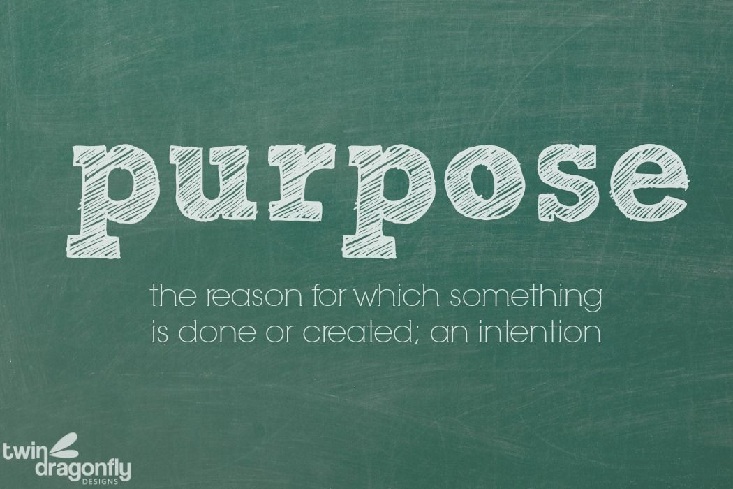 Image result for purpose word