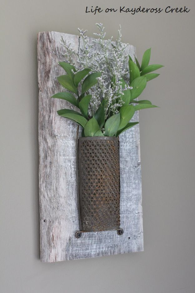Best Country Decor Ideas   Whitewashed Wood And Antique Brass Wall Sconce    Rustic Farmhouse Decor