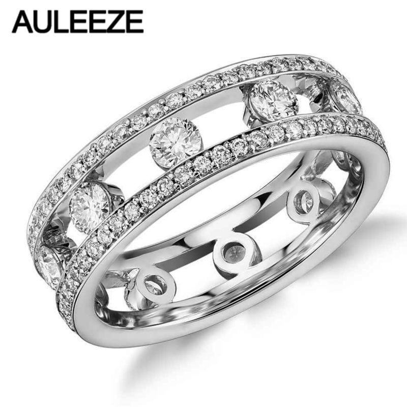 bridal steel bands cut women engagement round wedding s cubic ring zirconia jewellery classic sets set stainless for