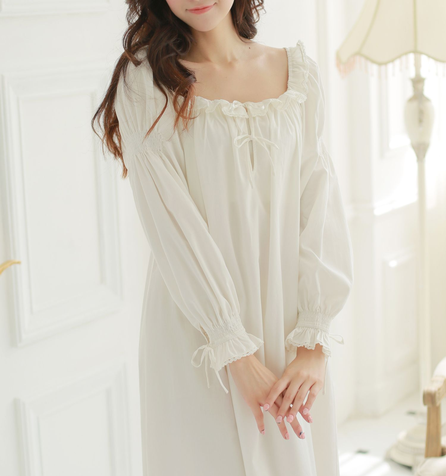 Cheap Nightgowns Sleepshirts On Sale At Bargain Price Buy Quality Nightgown Silk Nightgown Red Nightgown Cotton Night Dress Night Gown Cotton Night Dress