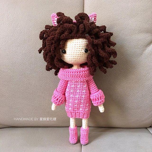 Kayla B done by pattern buyer, 蜜蜂爱吃糖. Pink wildcat girl 💗