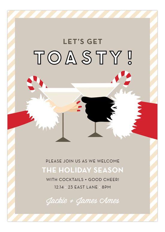 toasty santa party invitations christmas christmas invitations