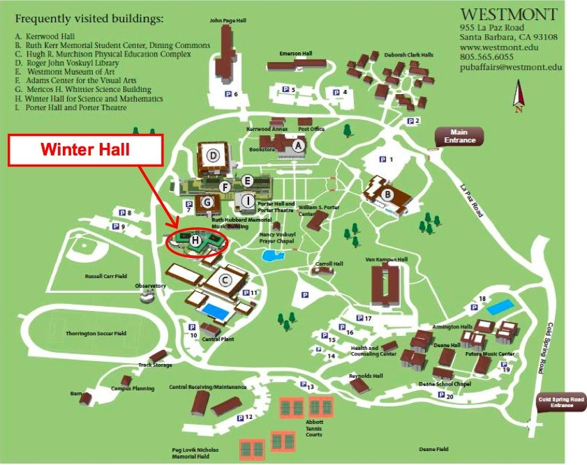 Westmont College Map This Is More Current I Want To Find One From