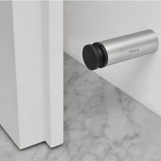 Blomus Entra Collection Wall Mounted Door Stop In Rubber Bumber