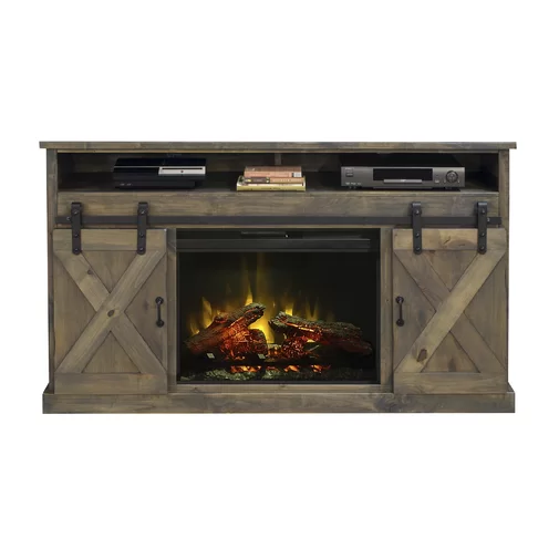 """Pullman TV Stand for TVs up to 75"""" with Electric Fireplace"""