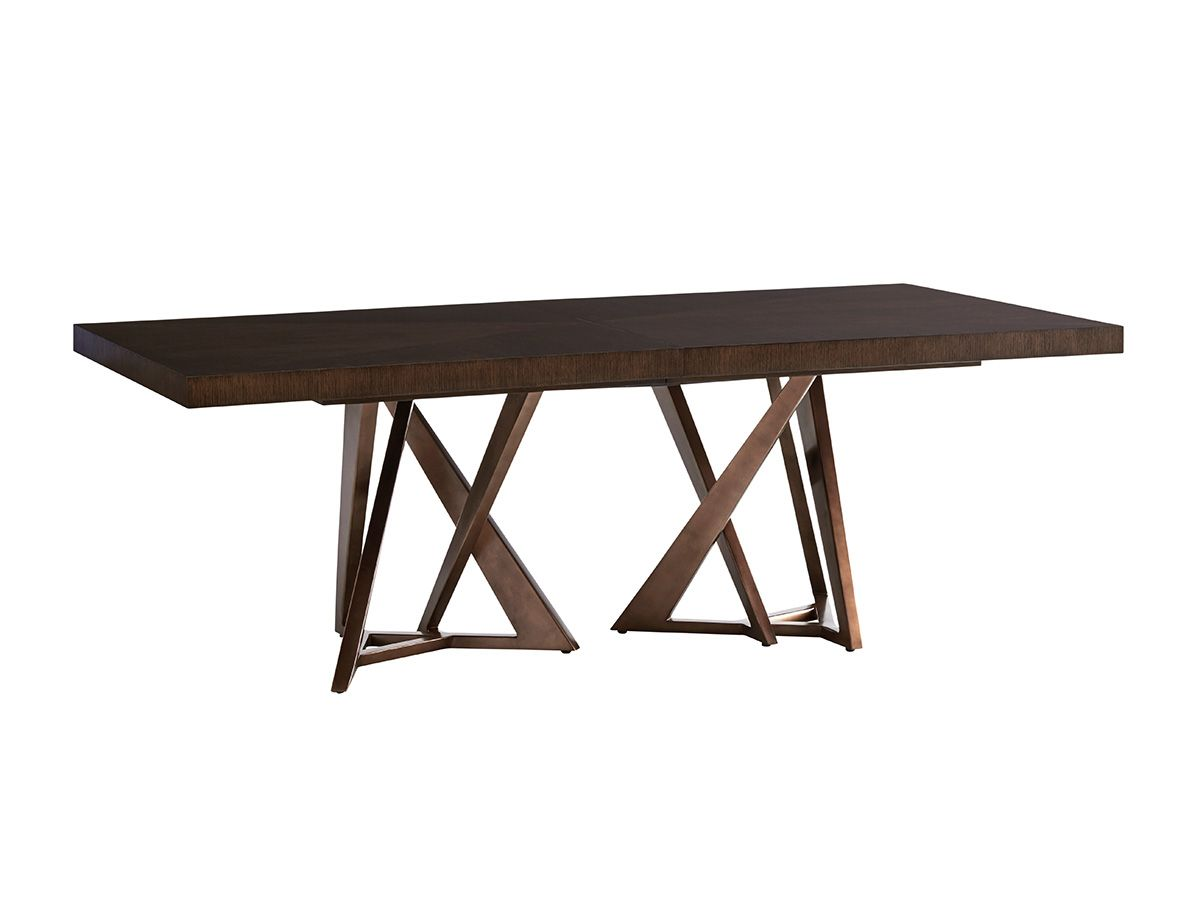 Loggia Rectangular Double Pedestal Dining Table With