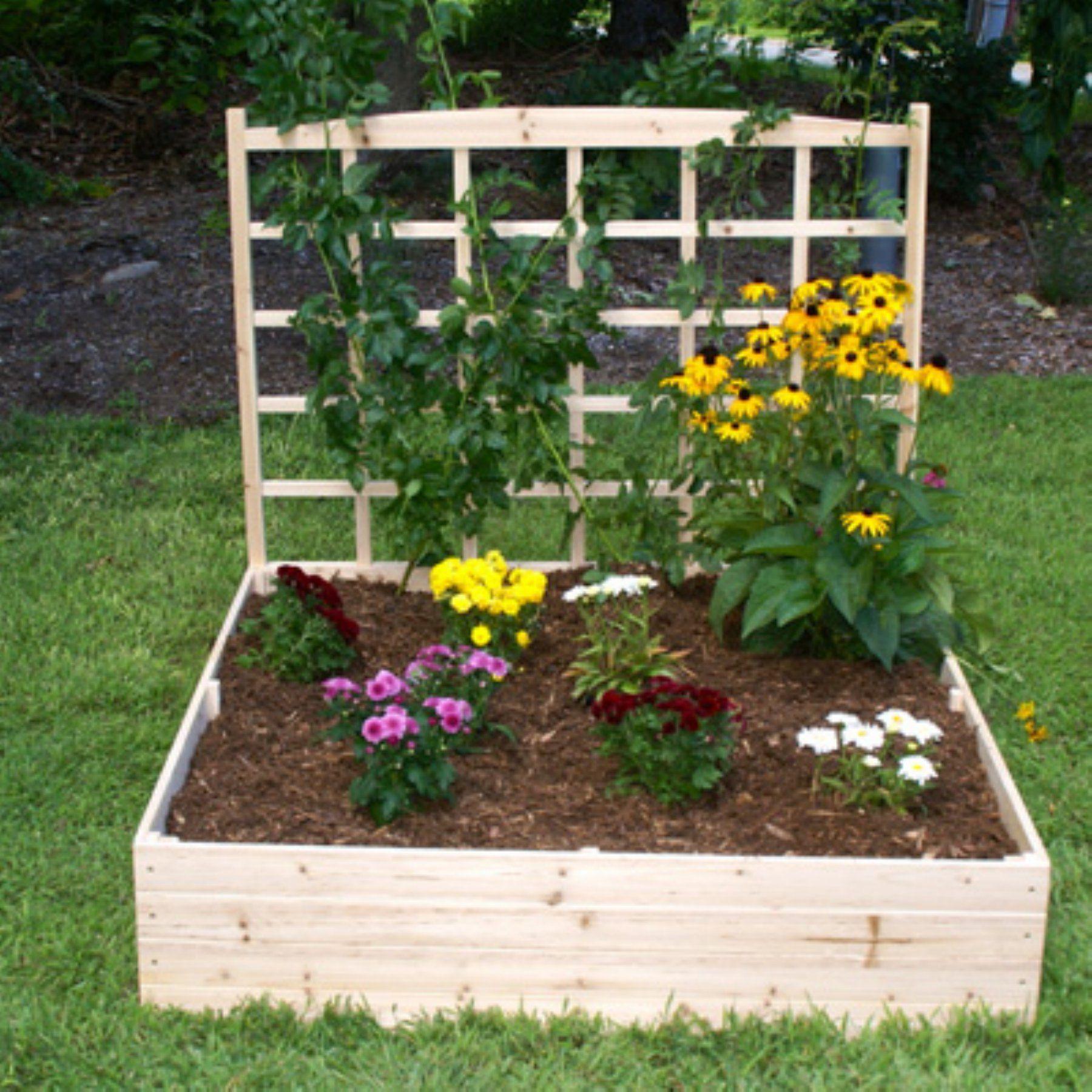 Eden Raised Garden Bed With Trellis 4 X 4 Ft 640 x 480