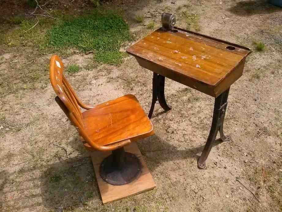 Antique School Desk with Inkwell - Antique School Desk With Inkwell School Desk Pinterest Antique