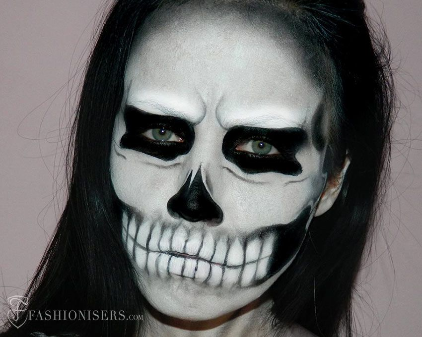 lady gaga inspired halloween skull makeup tutorial - Halloween Skull Face Paint Ideas