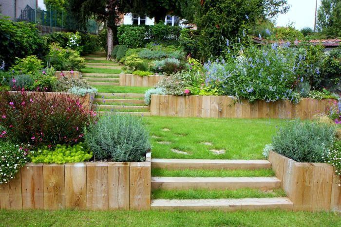 Comment avoir un joli jardin en pente? Jolies idées en photos et - aide pour construire une maison