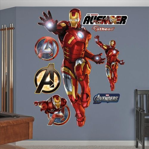 Check out this fun Iron Man Fathead.  Coming in at over 6 feet tall this will look great in virtually any room.
