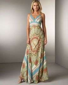 Nicole Miller Silk Scarf Print Patio Dress New Lengths Neiman Marcus