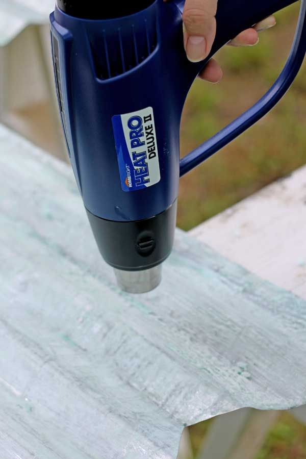 How To Age Galvanized Metal Heat Gun Projects