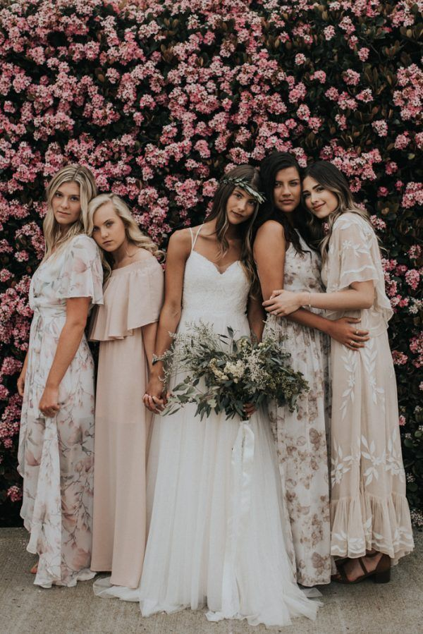 Gorgeous Fall Bridesmaids Style Inspiration Junebug Weddings Fall Bridesmaid Dresses Bridesmaid Dresses Boho Neutral Bridesmaid Dresses