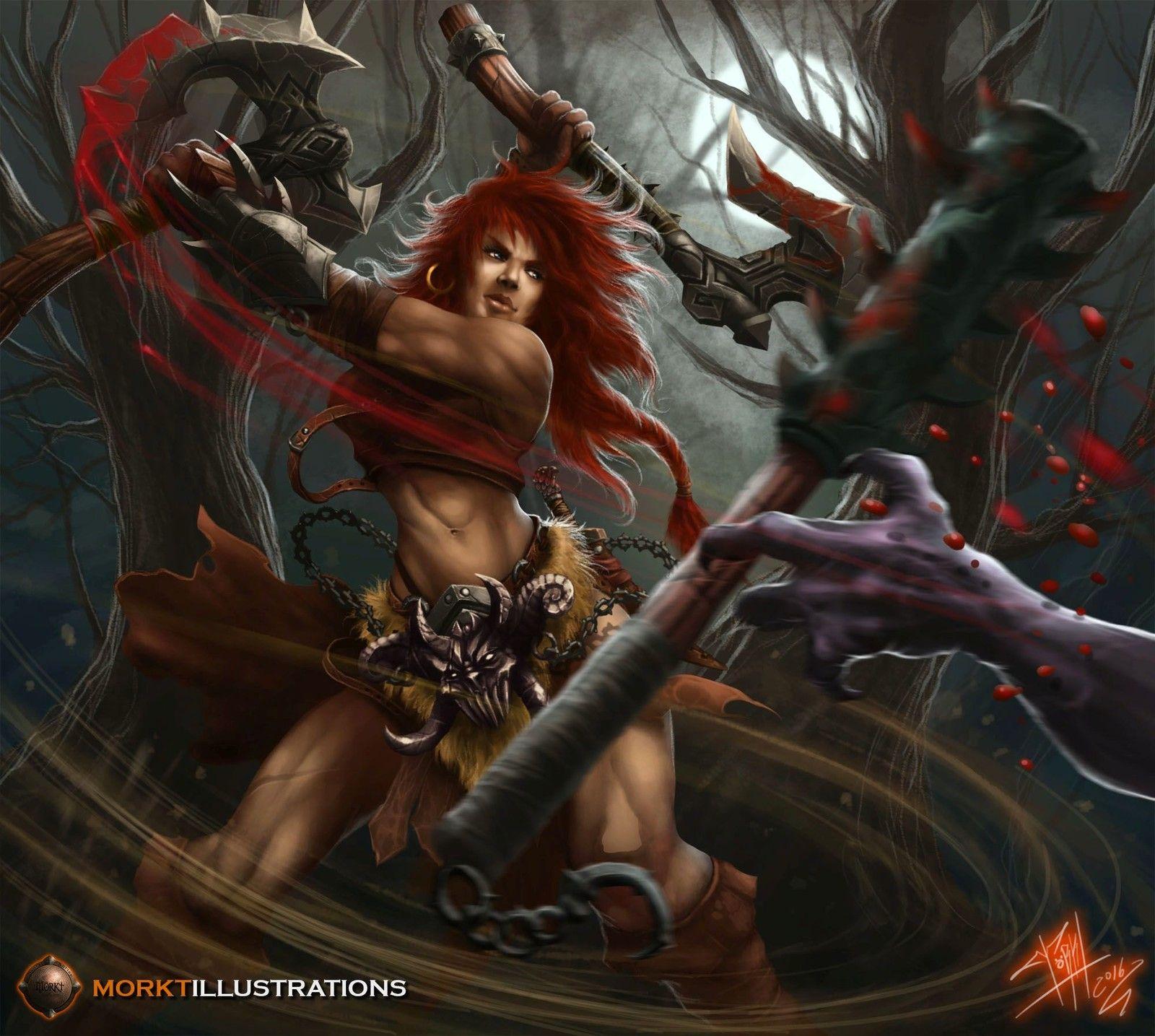 Barbarian Rage Concept Art