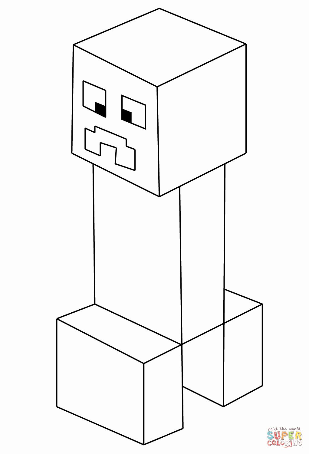 24 Minecraft Creeper Coloring Page in 2020 Minecraft