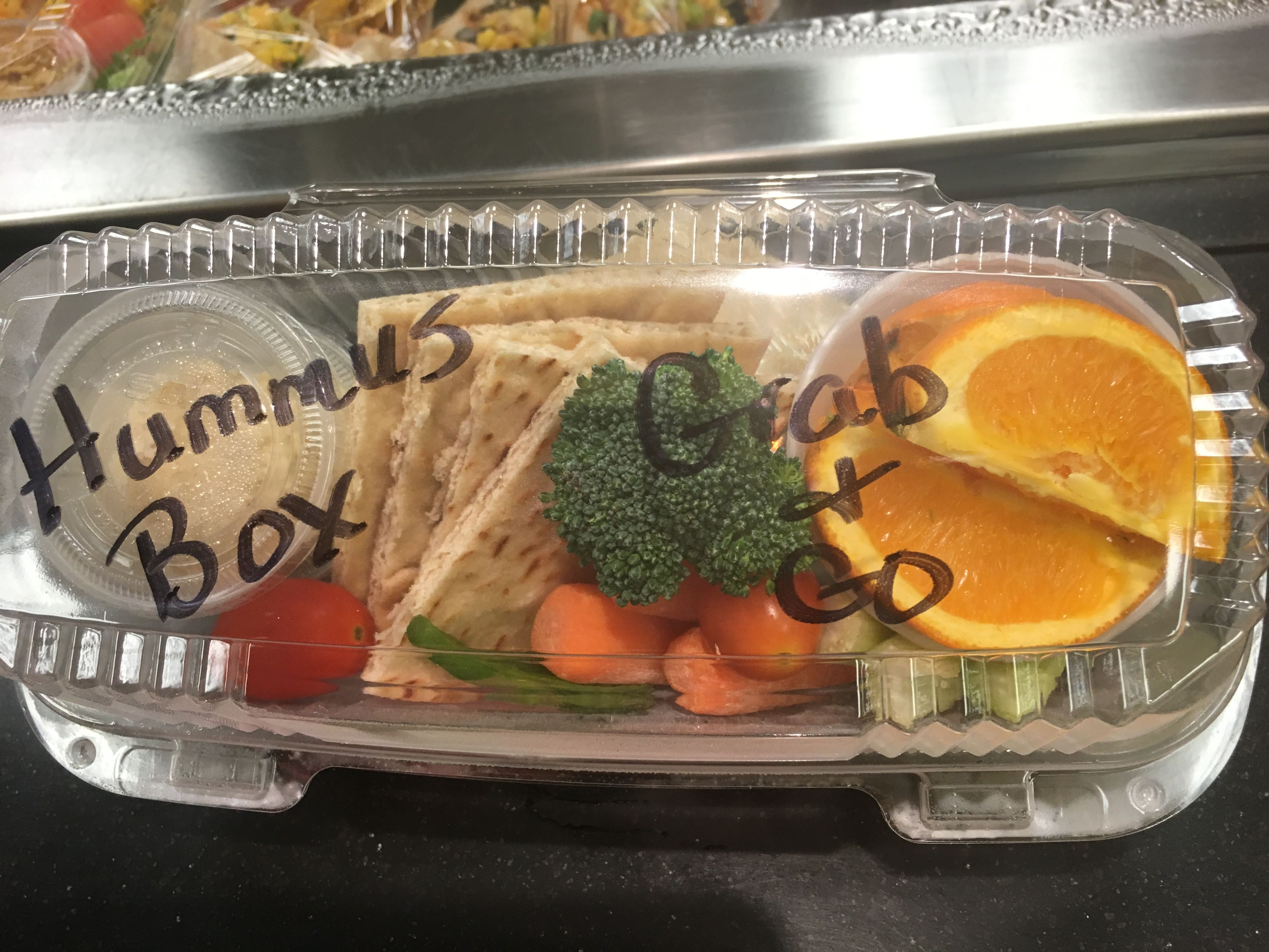 hummus grab  go for the high school students  cafeteria